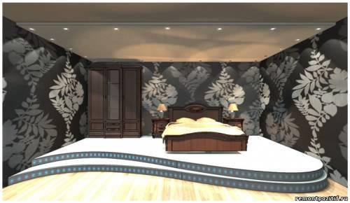 дизайн подиума в спальне 11