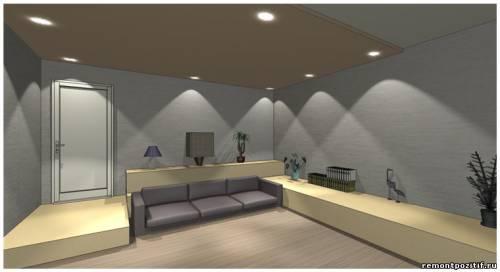 дизайн подиума в спальне 8