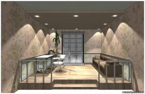 дизайн подиума в спальне 2