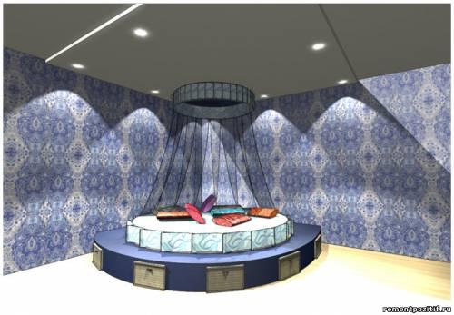 дизайн подиума в спальне 10