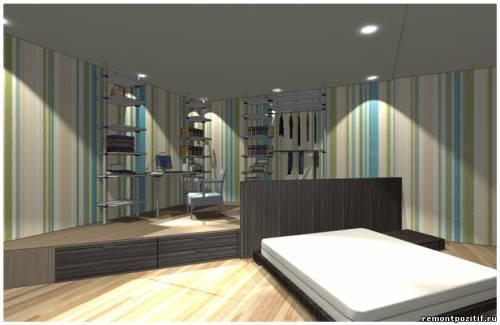 дизайн подиума в спальне 3