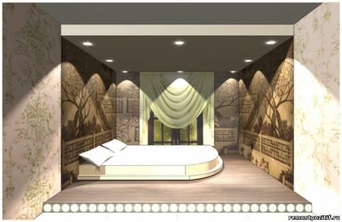 дизайн подиума в спальне 4