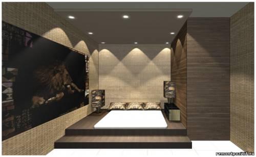 дизайн подиума в спальне 5