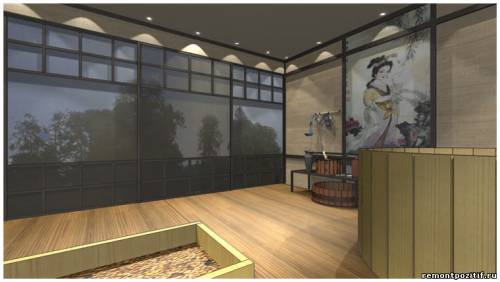 дизайн проект японской бани офуро