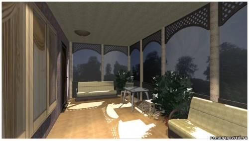 дизайн проект веранды в загородном доме