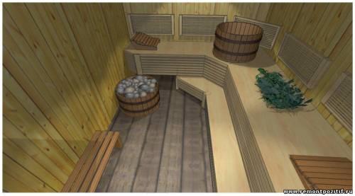дизайн бани в загородном доме с верандой