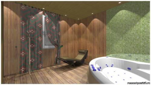 дизайн проект бани с джакузи