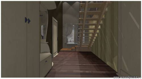 дизайн прихожей в двухэтажной бане