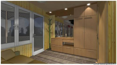 дизайн комнаты отдыха в бане с верандой