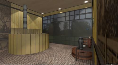 дизайн проект японской бани фурако