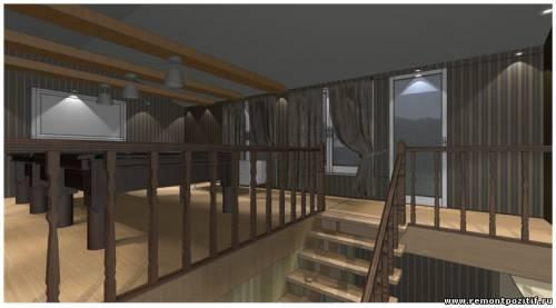 дизайн второго этажа в бане