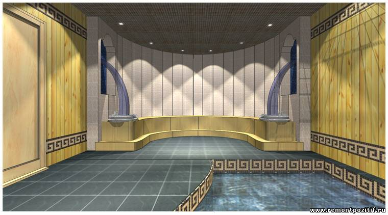 Дизайн интерьера двухэтажной бани