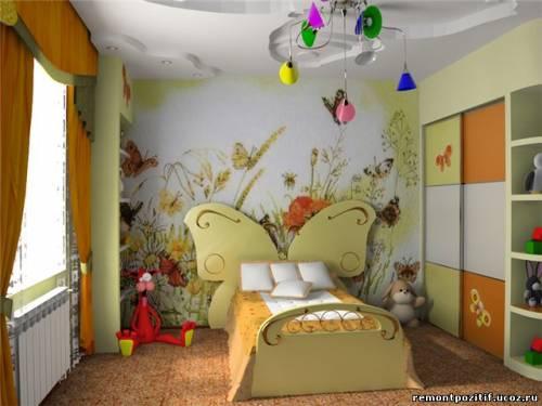Красивый дизайн детской комнаты