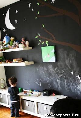 школьная доска в детской комнате