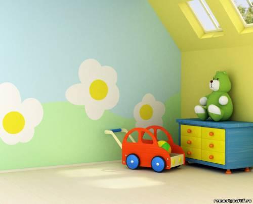 виниловая пленка в детской комнате