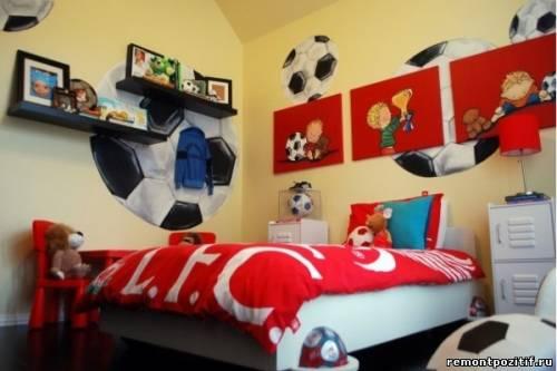 Детская для мальчика футбольной тематики