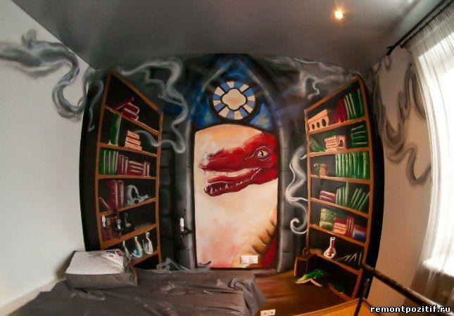 граффити в детской комнате