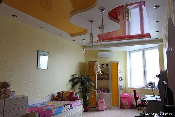 Навесной потолок в детской фото