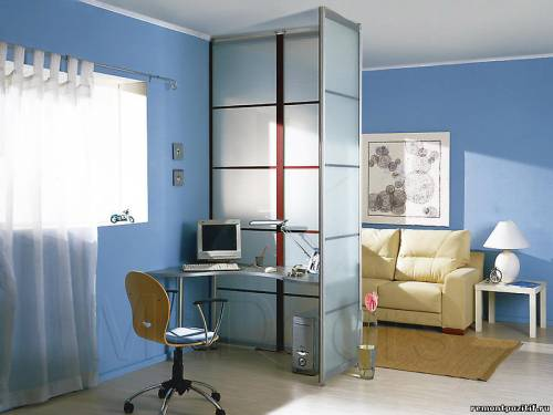 кабинет в гостиной