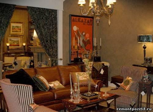 эклектика в гостиной как проявление собственного вкуса