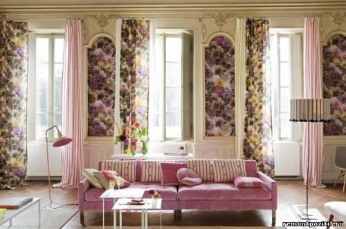флористический декор интерьера