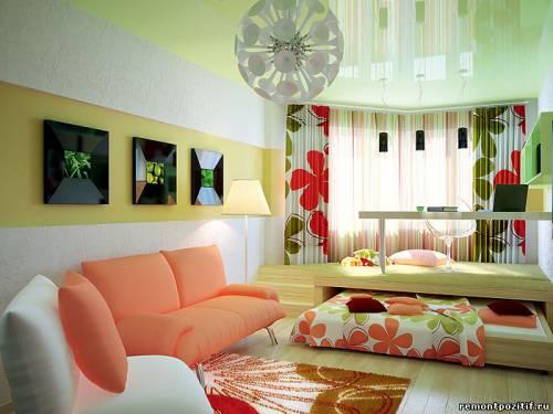 Спальня и гостиная в одной комнате дизайн фото