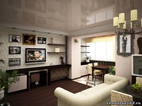 Интерьер гостиной 15
