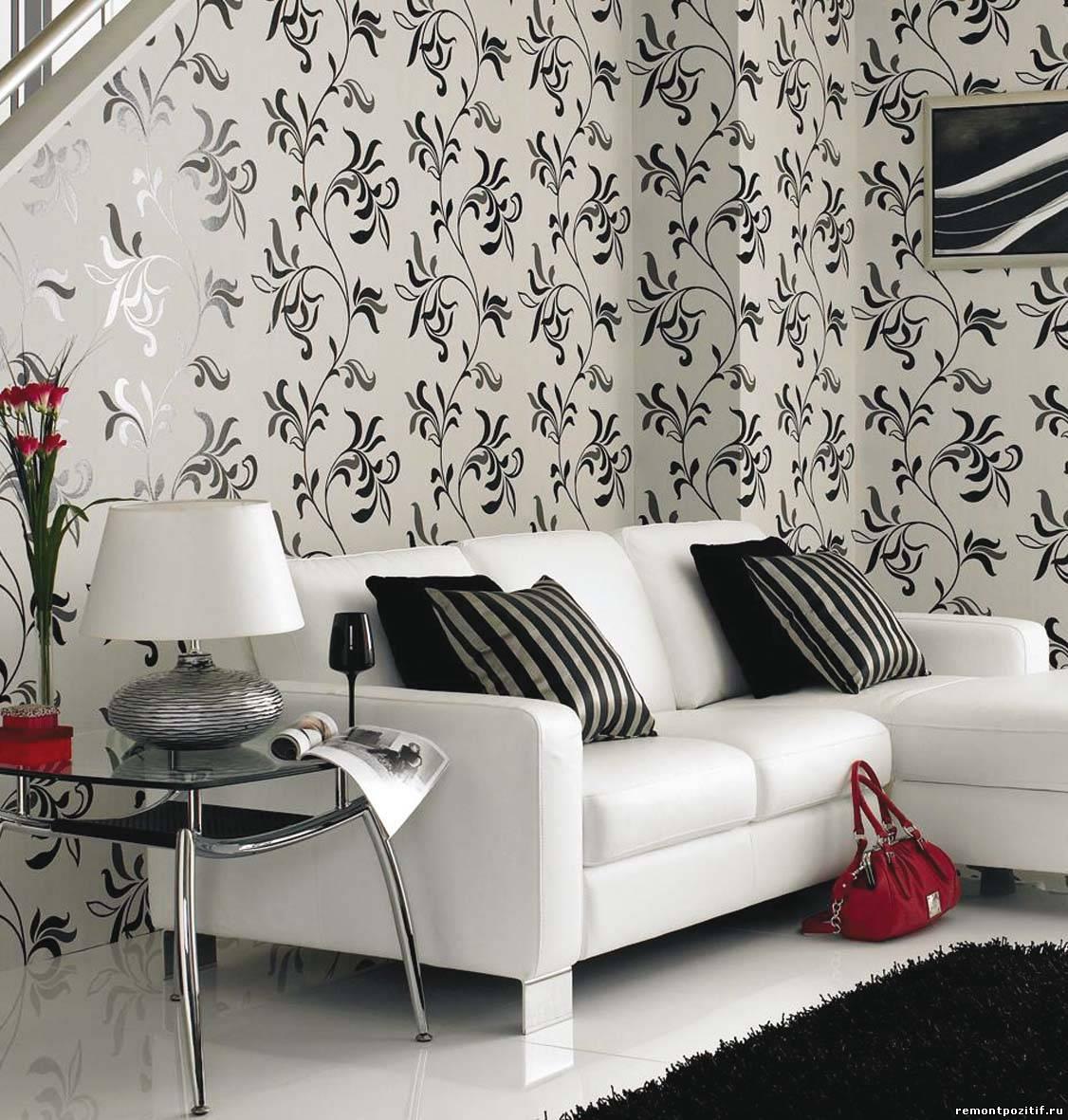 Дизайн стен в квартире. Материалы для отделки стен: обои, ткань ...