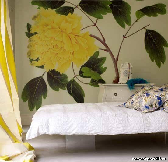 цветочные мотивы в стиле минимализм