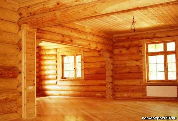 деревянная отделка экодома