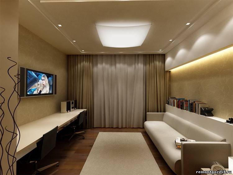 Дизайн узких комнат для подростка