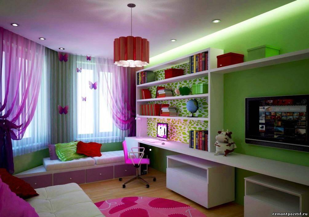 интерьер гостиной совмещенной с детской комнатой
