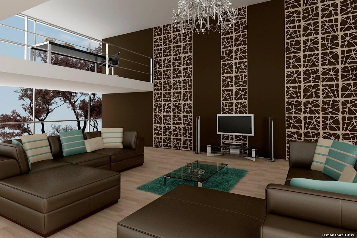 декоративные панели в интерьере гостиной