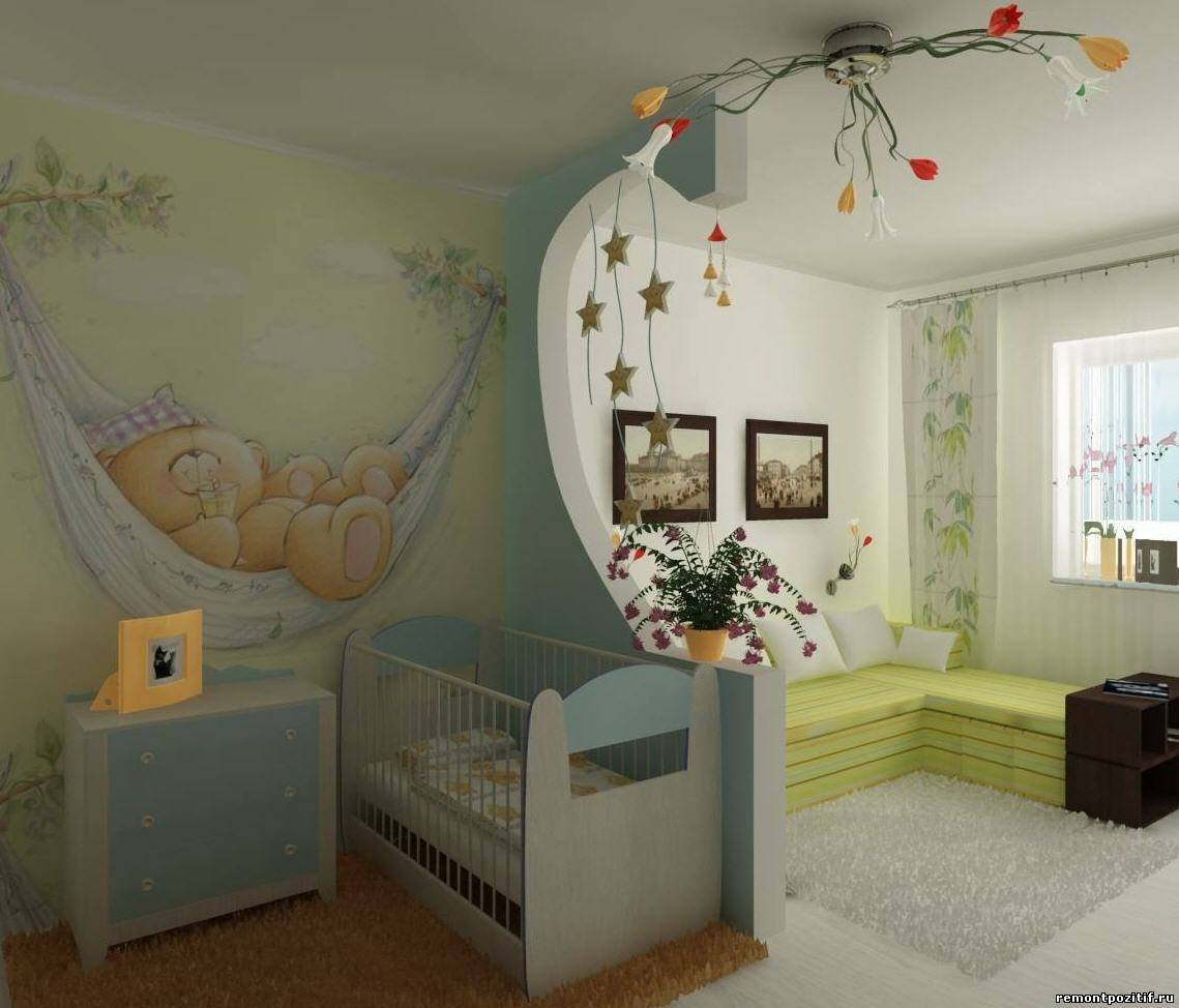 гостиная и детская в одном помещении