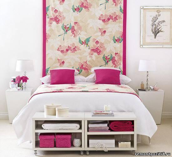 цветочные рисунки в интерьер спальни