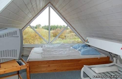 интерьер спальни в экостиле