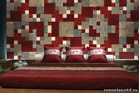печворк в дизайне стен