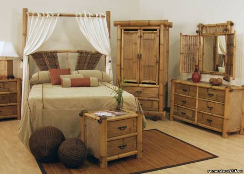 мебель для спальни из бамбука