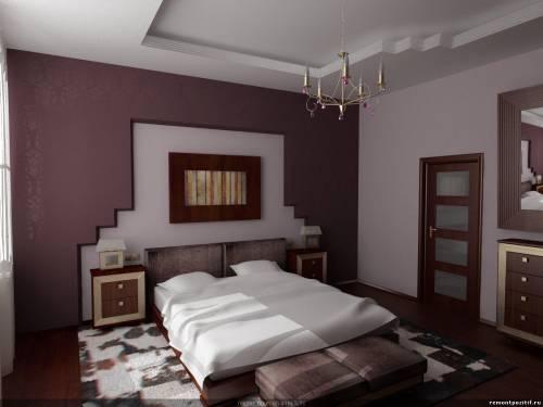потолок из гипсокартона спальня