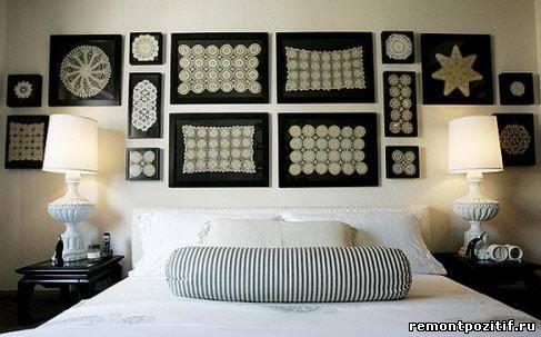 интерьер спальни с кружевным декором