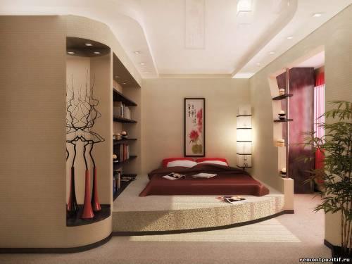 Совмещенная спальня гостиная фото дизайн