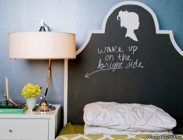 школьная доска в интерьере спальни