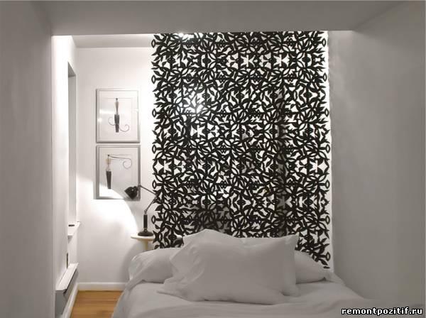 спальня с кружевной перегородкой