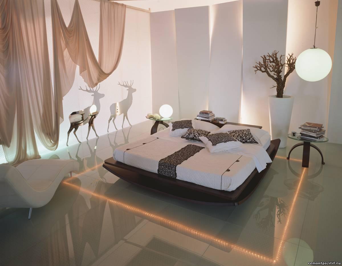 отделка пола в маленькой спальне