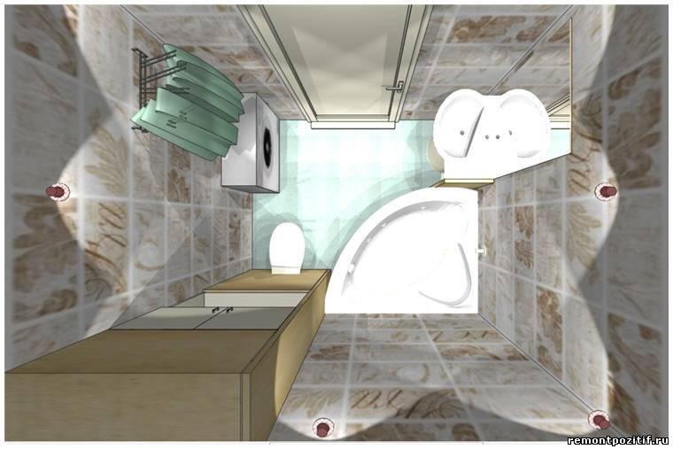 Дизайн ванной комнаты в типовых домах