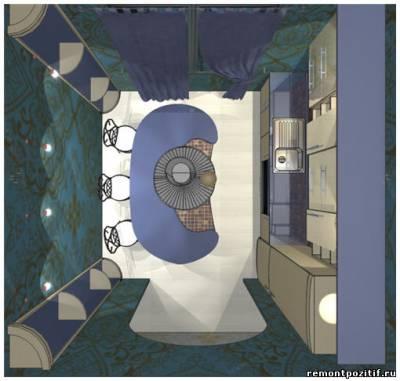 Интерьер кухни 12 кв метров