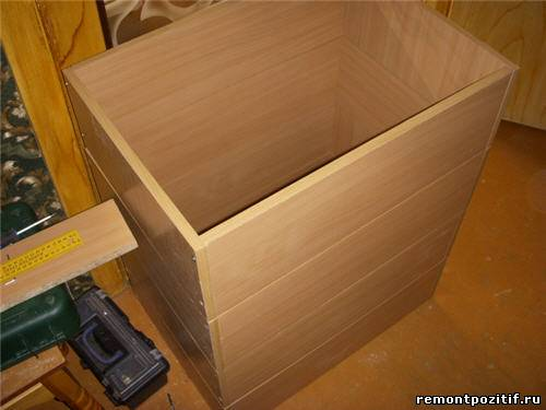 Как сделать дсп ящик