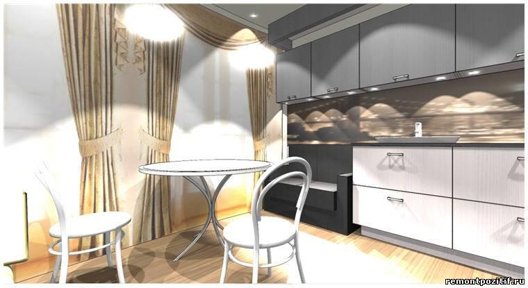 Дизайн кухни на лоджии
