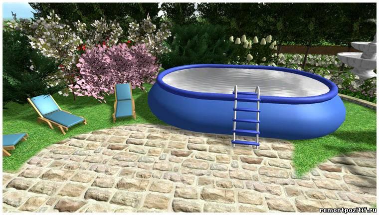 Дизайн надувного бассейна