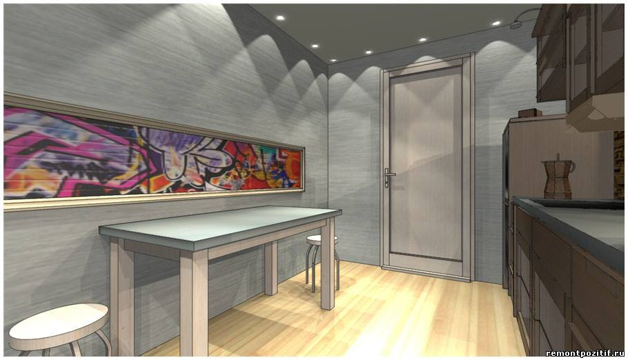 Дизайн узкой кухни 11 кв м